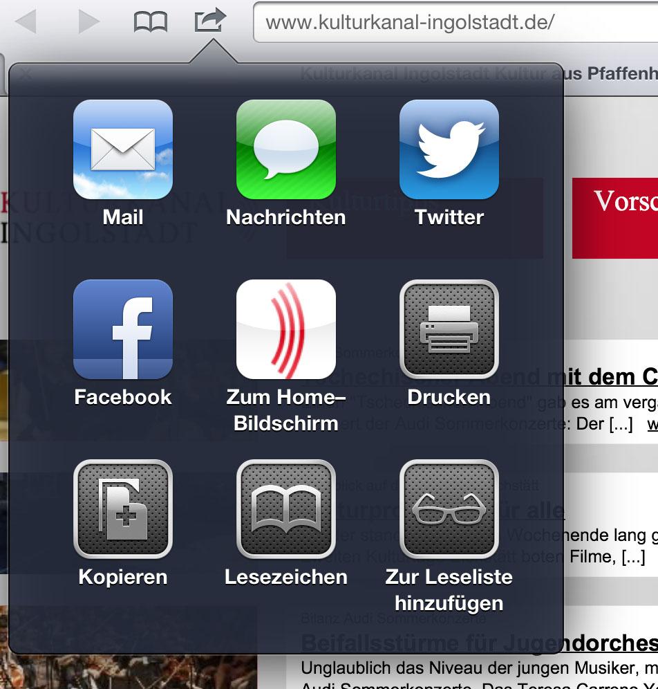 Der Kulturkanal auf dem iPad