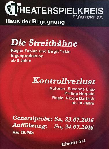 Theaterspielkreis Pfaffenhofen mit neuen Jugendstücken