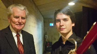 Fagottist Theo Plath gewinnt Musikförderwettbewerb