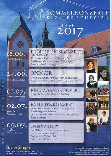 Übersicht Sommerkonzerte Kloster Scheyern