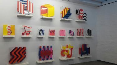 Marie-Luise Heller im Museum für Konkrete Kunst