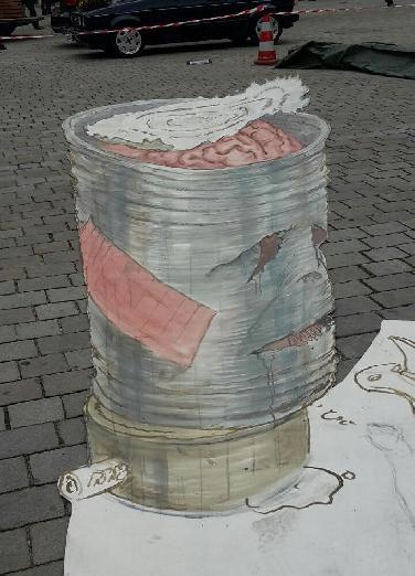 Verblüffende 3D-StreatARt auf dem Rathausplatz