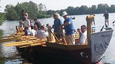 Rudern wie die Römer in Manching, Ingolstadt, Eining