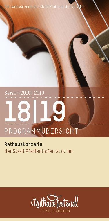 33. Rathauskonzerte in Pfaffenhofen