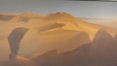 Gemalte Stille in Hartmut Pfeuffers Wüstenlandschaften