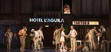"""turbulentes Gastspiel der Rossini-Oper """"La Gazzetta"""""""