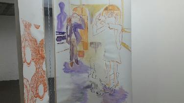 """Kunstausstellung z. Fleißer-Erzählung """"Ein Pfund Orangen"""