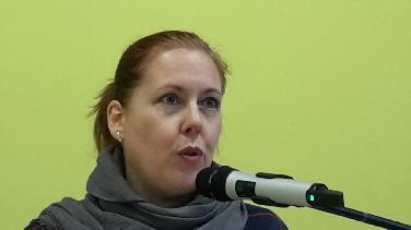 Christiane Neudecker las im Reuchlingymnasium