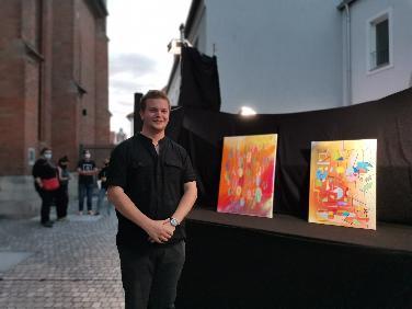 Der 19jährige Künstler Benjamin Werner