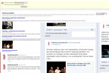 Kulturkanal - Facebook und Twitter sowie als RSS-Feed