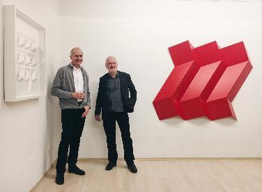 Peter Weber und Ralph Kerstner in Galerie Haas