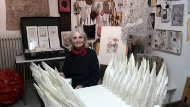 """Im """"Kleinen Museum"""" der Künstlerin Babette Ueberschaer"""
