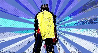 Steven Cloos als Lese-Superheld und Brieffreund Panther