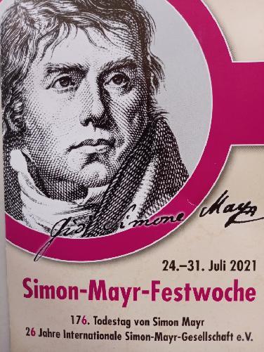 Simon-Mayr-Festwoche mit 4 Konzerten von 23.-31.Juli